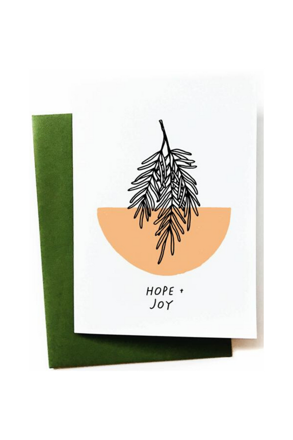 Hope + Joy Greeting Card