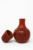 Huáncito red and black hand-painted ceramic water pitcher
