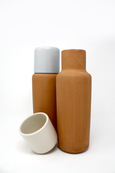 Clay Carafe with Cup