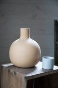 Clay water pitcher with cup