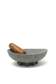Ayres Xolo Molcajete volcanic rock mortar and pestle made in Mexico