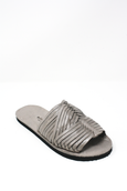 Mexican leather huaraches woven sandals summer sandals grey