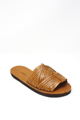 Mexican leather huaraches woven sandals summer sandals tan