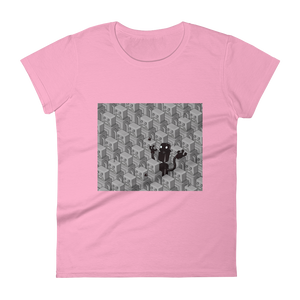 0.2 - The Naughty Robots - Black Founders Matter Limited Edition Ladies Tee