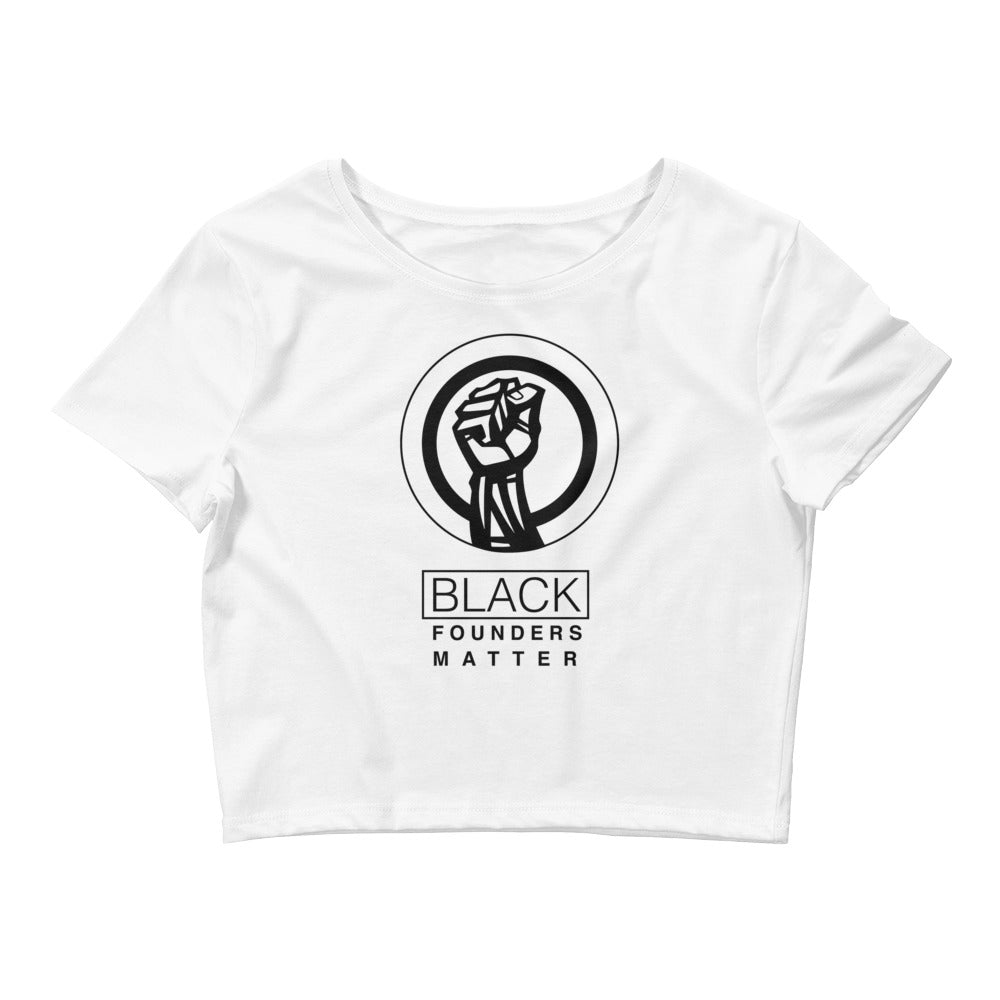 Black Founders Matter - 0.1 Limited Edition Women's Crop Tee