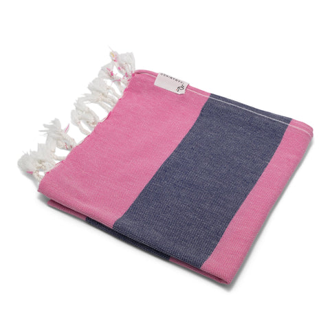 Mini Towel Hot Pink & Navy Blue - HAMAMINGO