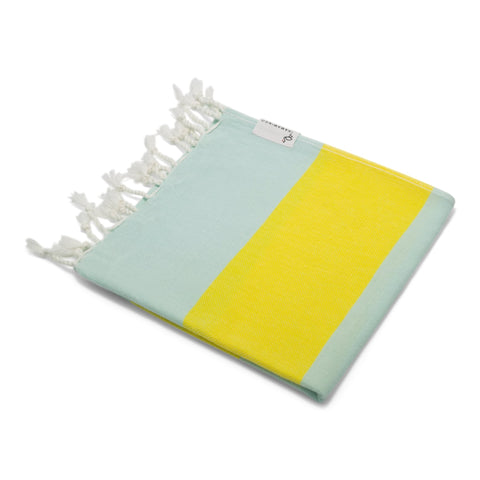 Mini Towel Mint & Bright Yellow - HAMAMINGO