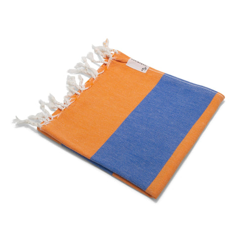 Mini Towel Orange & Royal Blue - HAMAMINGO