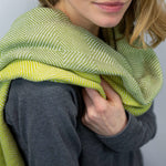 Trocadero Blanket Scarf Olive Green & Dirty Lime - HAMAMINGO