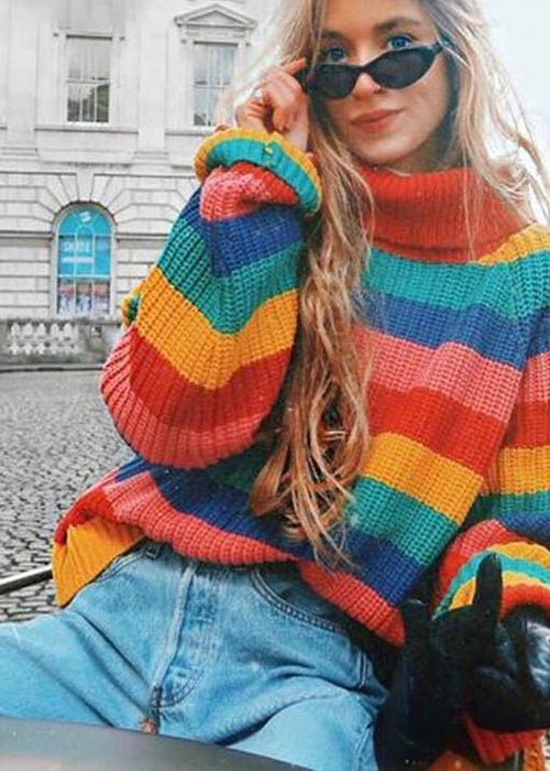 Molly Rainbow Turtleneck - BRUMONT