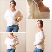 Anna V Neck Sweater - Brumont