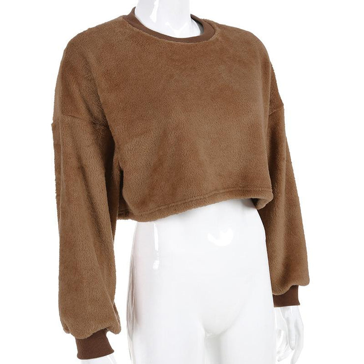 Roxy - Cropped Teddy Sweater - Brumont