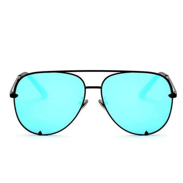 Diana Aviator Glasses - Black Frame Blue