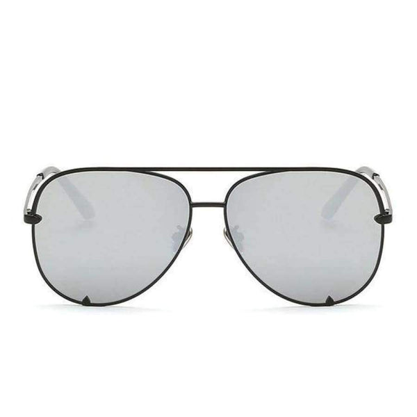 Diana Aviator Glasses - Black Frame Silve