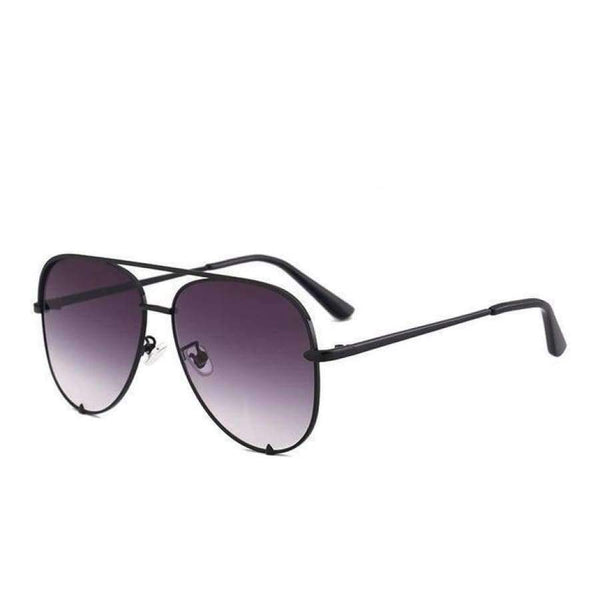 Diana Aviator Glasses - Black Gradient Gray
