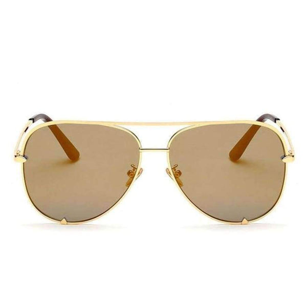 Diana Aviator Glasses - Gold Frame Gold