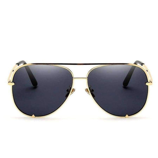 Diana Aviator Glasses - Gold Frame Gray