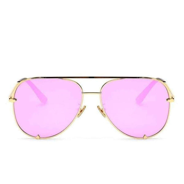Diana Aviator Glasses - Gold Frame Pink