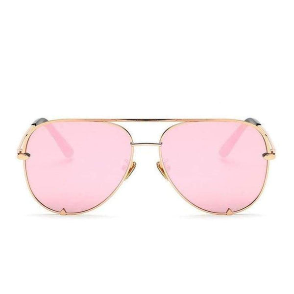 Diana Aviator Glasses - Rose Gold Frame