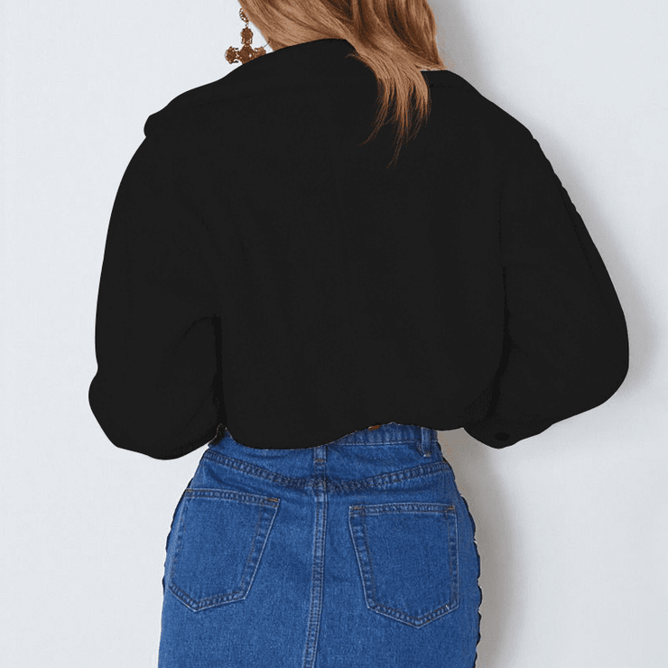 Alice Cropped Teddy Jacket - Brumont