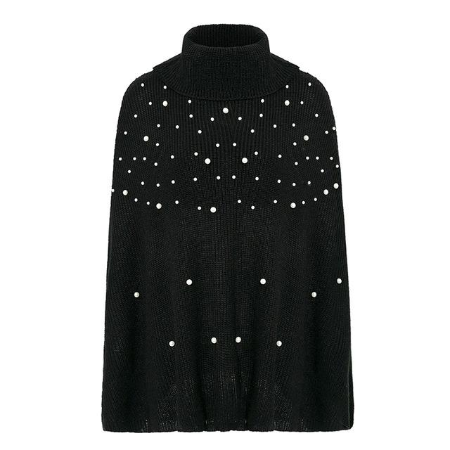 Sofia - Turtleneck Knitted Cloak - Brumont
