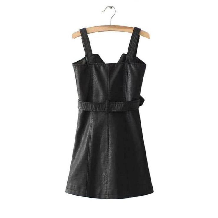 Eleanor - Vintage Leather Dress - Brumont