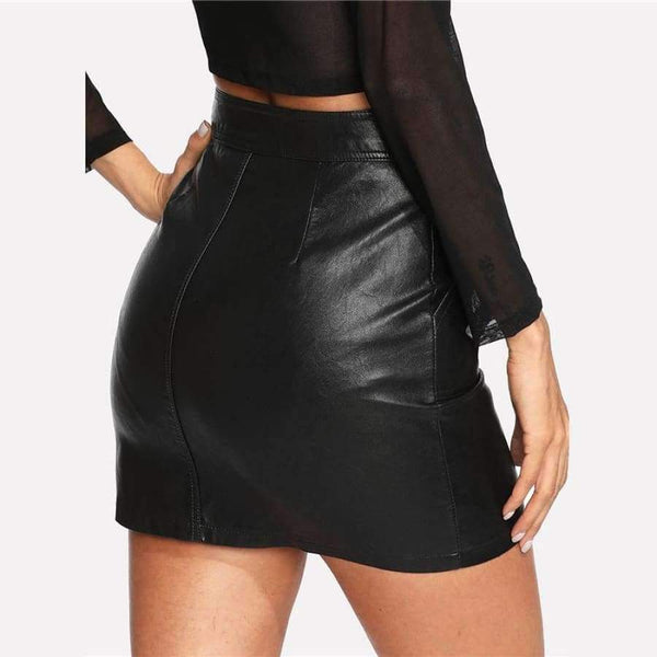 Jordyn - Leather Skirt