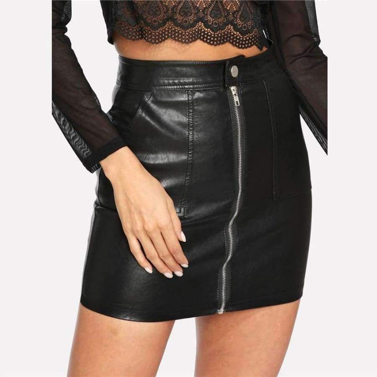 Jordyn - Leather Skirt - Brumont