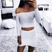 Kristin Crop Top - Off Shoulder - Brumont