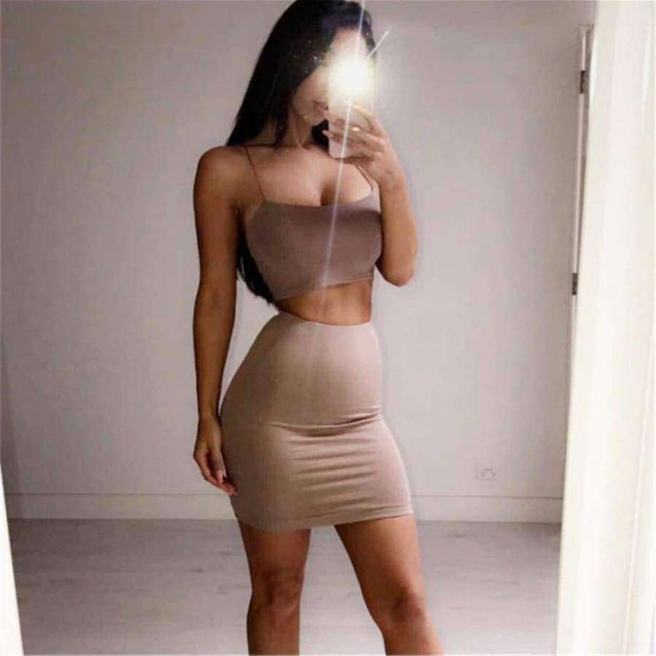 Kylie Crop Top With Skirt - Brumont