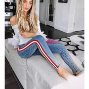 Laura Striped - Skinny Jeans - Brumont