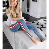 Laura Striped - Skinny Jeans