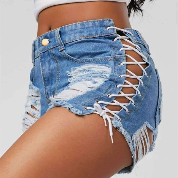 Lindsay - Denim Shorts - Blue / L