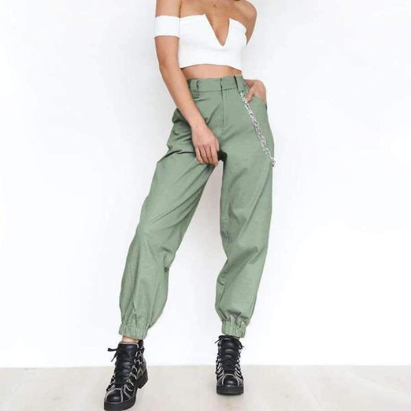 Mallory Cargo Pants - Army Green / L