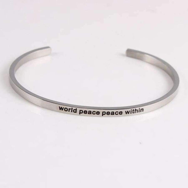 Mantra Bangles - World Peace