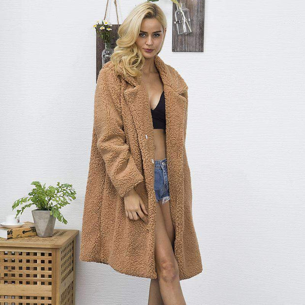 Elegra - Long Teddy Coat - Brumont