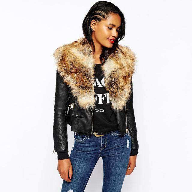 Bailey Fur Leather Jacket - Brumont