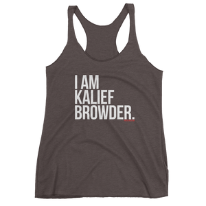 """I Am Kalief Browder"" Racerback Tank"