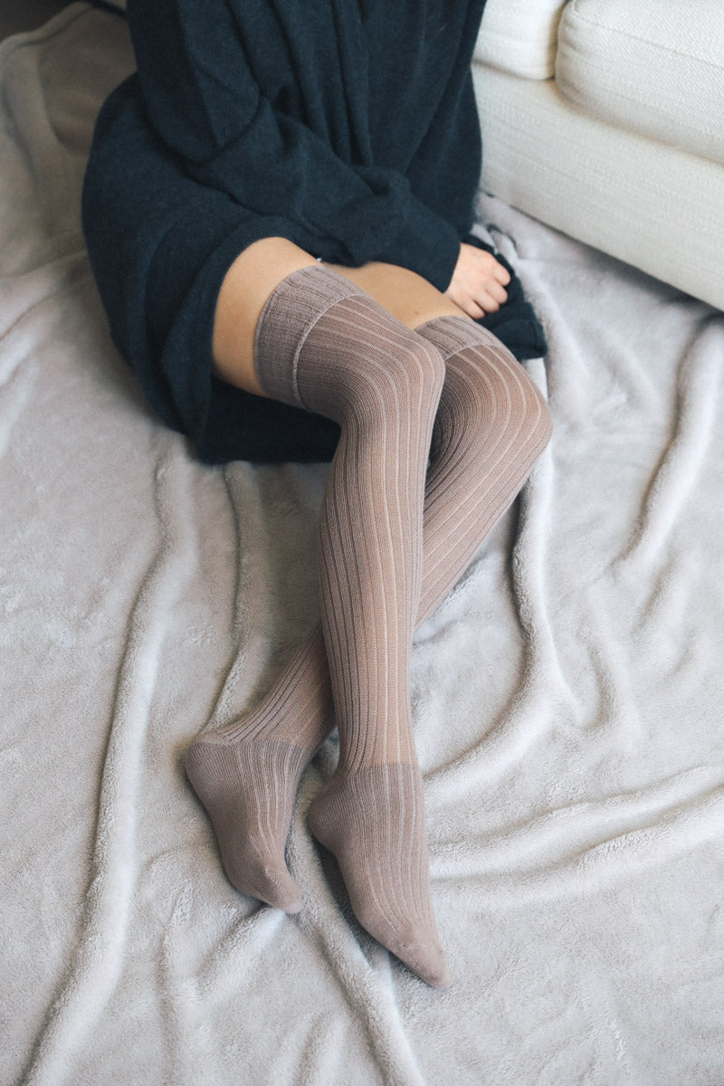 Mocha Over-the-Knee Socks
