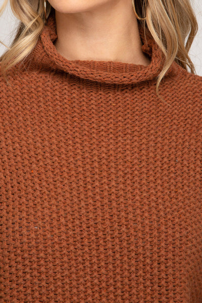 Chunky Knit Cinnamon Sweater