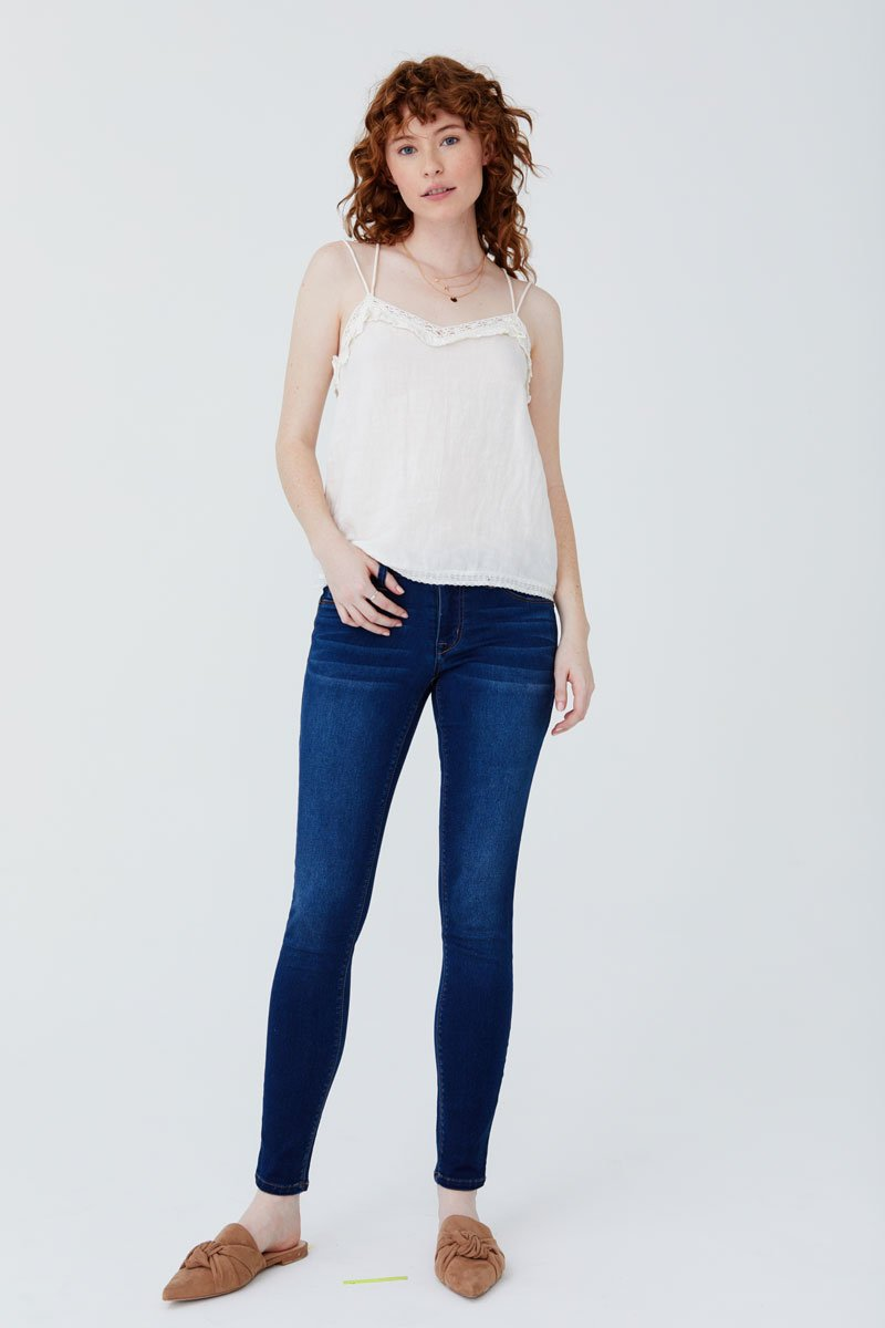 Butter Skinny Jeans Classic Rise Ankle Skinny