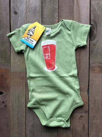 1/2 Pint Onesie Green