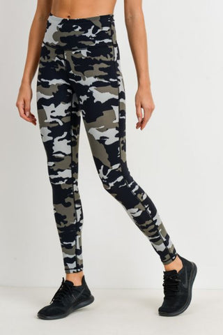 Jungle Camo High Waisted Leggings