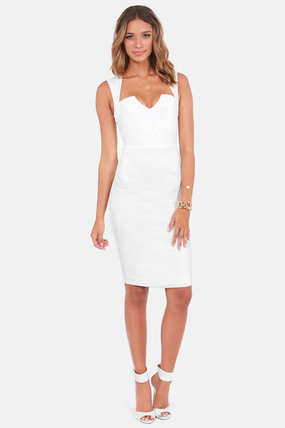 Ivory Coctail Midi Dress