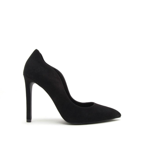 Black Micro Suede Pointed Toe Pump