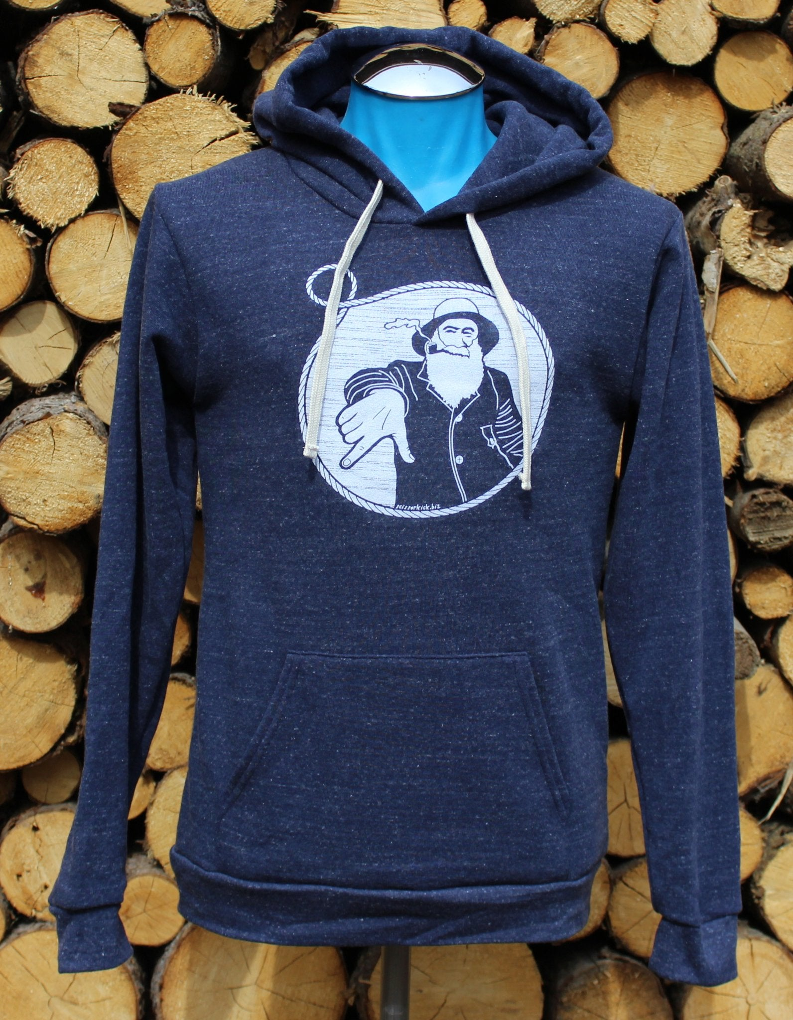 Captain Doug Heather Navy Pullover by Scissorkick AK