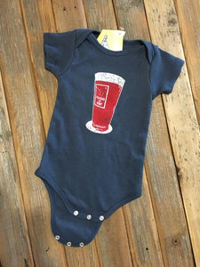 1/2 Pint Onesie Dusty Blue - Hulin Designs
