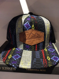 AlaskiWear Kids Trucker Hat - Black Pattern