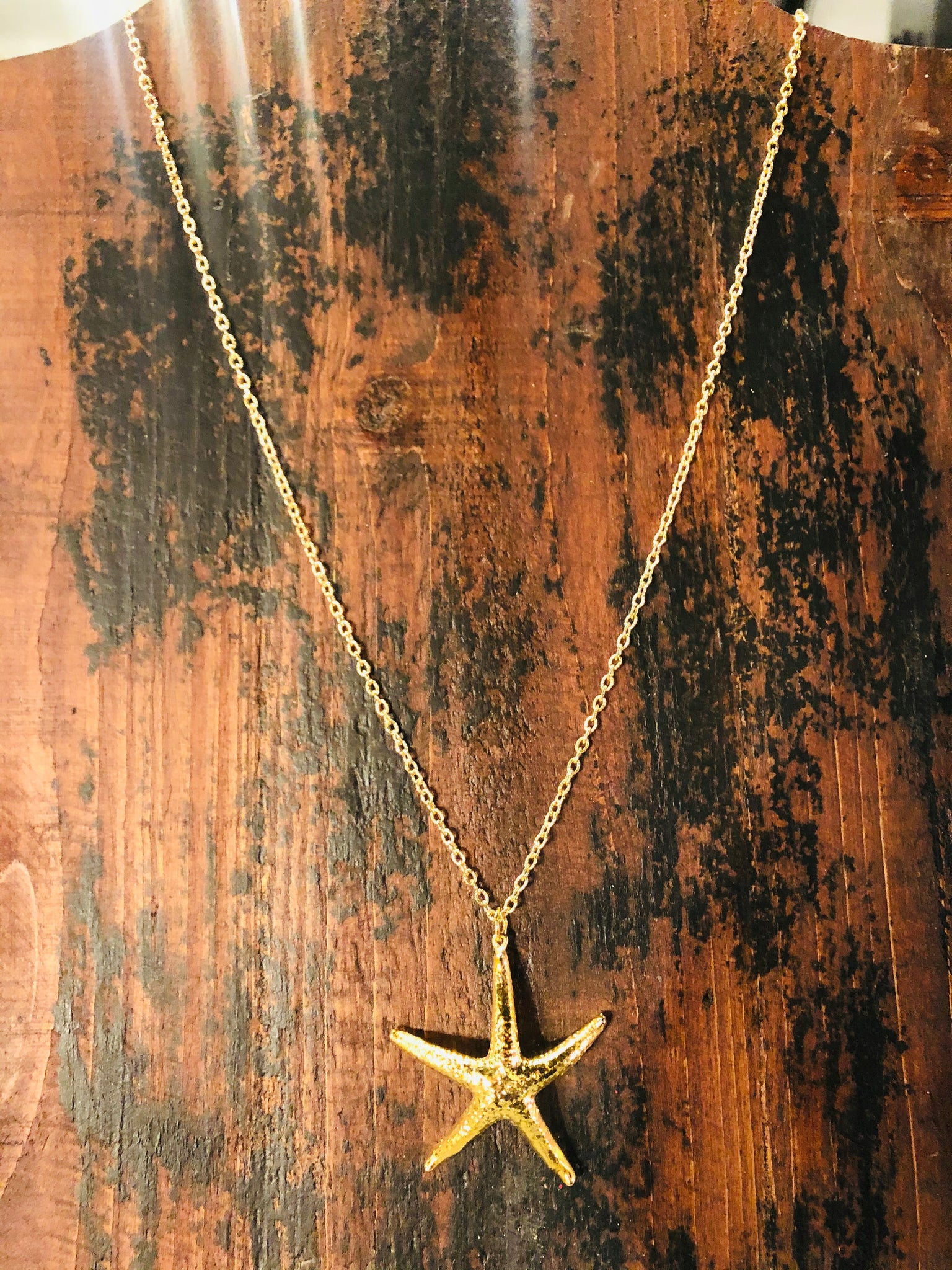M Starfish Necklace