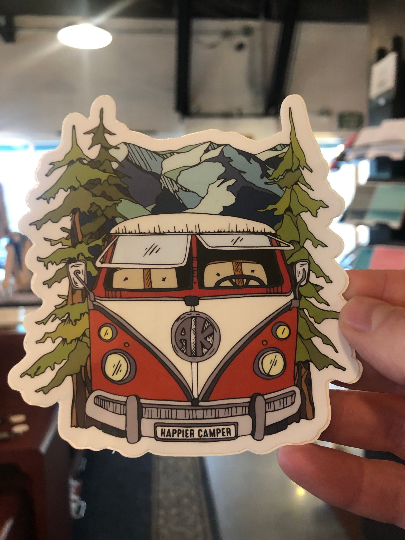 Happier Camper Sticker